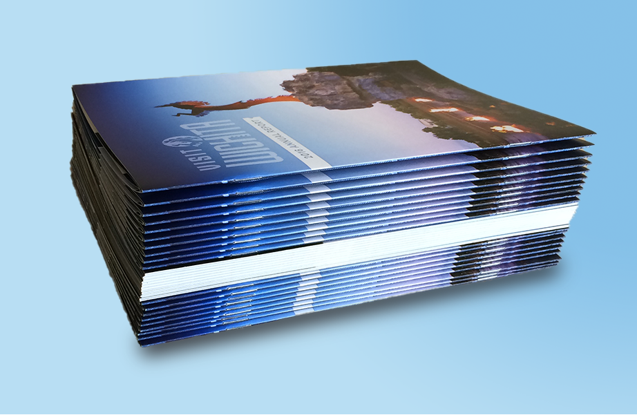 Color printed and bound booklets